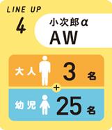 小次郎α AW
